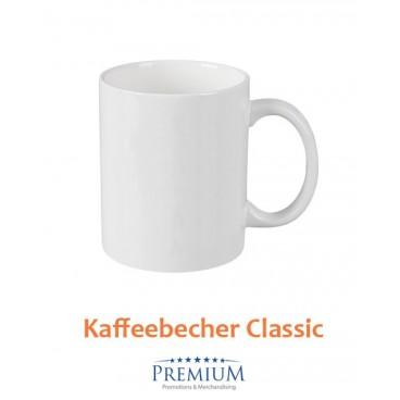 "Kaffeebecher Keramik ""gusto"" weiß"