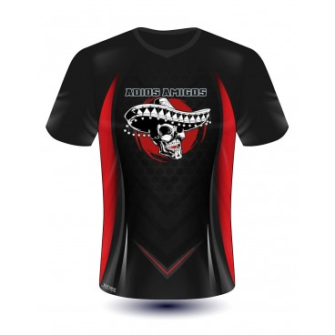 T-Shirt Trikot mit All Over Druck
