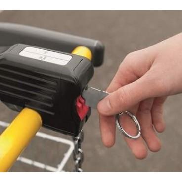 Einkaufswagenlöser als Schlüsselanhänger