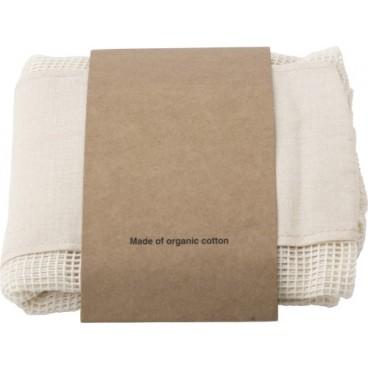 Premiumtex Einkaufstaschen aus Bio-Baumwolle für Obst und Gemüse im 3er-Set