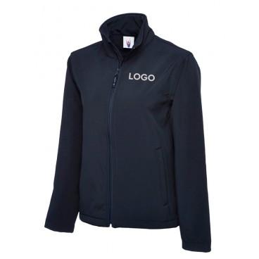 Klassische Softshell Jacke mit Logodruck