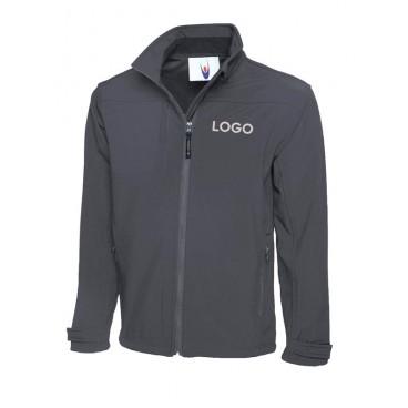 Premium Softshell Jacke mit Logodruck
