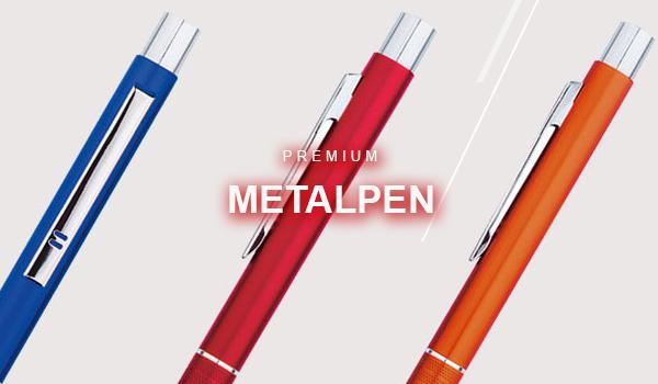 Metallkugelschreiber mit eigenem Logo als Werbeartikel bestellen